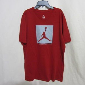 MENS JORDAN XL TWO3 RED GRAPHIC TEE